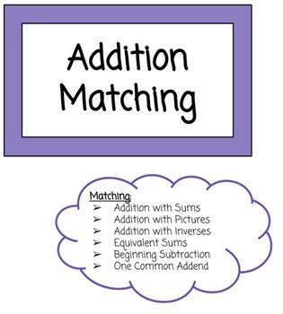 Addition Matching