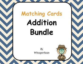 Addition Matching Cards Bundle