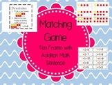 Addition Matching Game: Match Ten Frame with Math Sentence