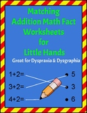Addition Matching Math Facts Workbook For Little Hands