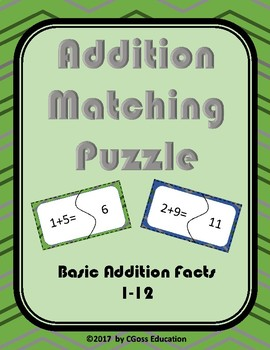 Addition Matching Puzzle!