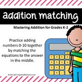 Addition Matching for Lower Numbers