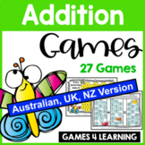 Addition Games for Addition Facts Fluency [Australia UK NZ Edition]