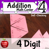 Four digit Addition Math Station