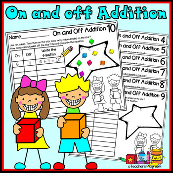 Addition Math Center Activity--On and Off Addition