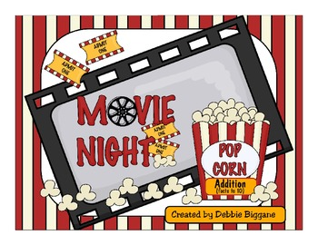 Addition Math Center (Facts to 10): Movie Night