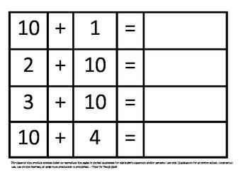 Addition Math Center Multipack- FIVE games- Digital Download
