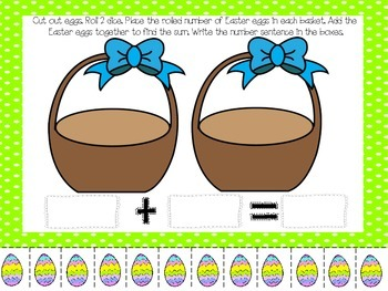 Addition Math Centers (Easter Themed)