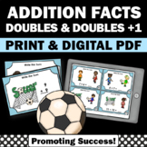 Adding Doubles Facts, Doubles Plus 1 Kindergarten 1st Grade Math Review Games