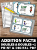 Doubles and Doubles Plus One Math Addtion Facts up to 20 T