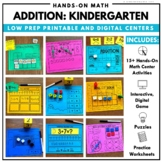 Addition Math Centers Kindergarten