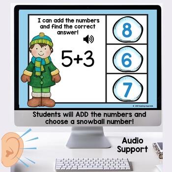 Addition Math Digital Task Cards Boom
