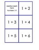 Addition Math Fact Cards