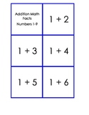 Addition Math Fact Cards