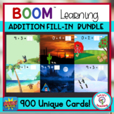 Addition Math Fact Fill In BOOM 900 Card Bundle