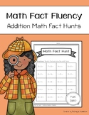 Addition Math Fact Fluency: Addition Math Fact Hunts