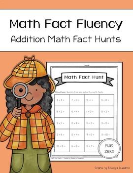 Addition Math Fact Fluency: Addition Math Fact Hunts