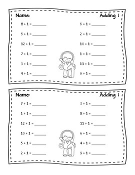 Addition Math Fact Fluency - Addition within 20