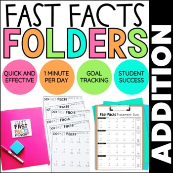 Addition Math Fact Fluency | Fast Facts Folders