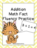 Addition Basic Math Fact Fluency Practice