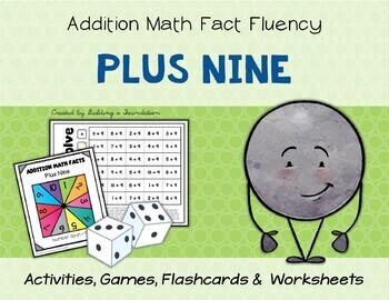 Addition Math Fact Fluency: Plus Nine (+9)