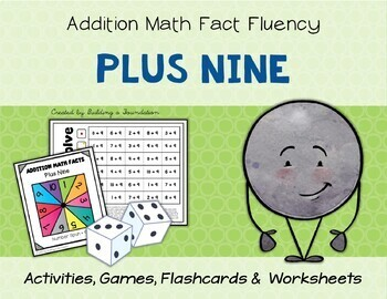 Addition Math Fact Fluency: Plus Nine (+9)