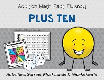 Addition Math Fact Fluency: Plus Ten (+10)