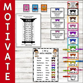 Addition Math Fact Fluency Program Karate Theme