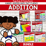 Addition Math Fact Fluency Program Karate Theme
