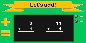 Addition Math Fact Game Center for Interactive White Boards