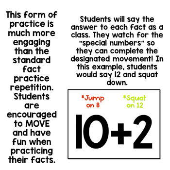 Addition Math Fact Practice- 3s, 4s, and 5s- Active, engaging slideshows!