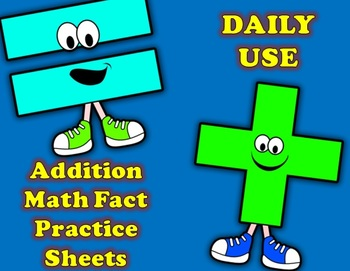 Addition Math Fact Practice Printables