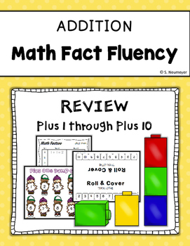 Addition Math Fact Fluency: Plus 1-10 Pack