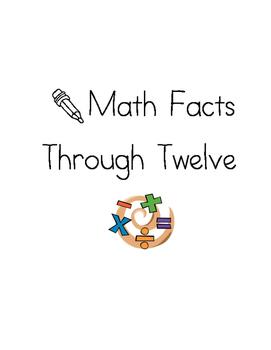 Addition Math Fluency Unit