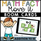 Addition Math Facts Boom Cards™ - Addition to 10 Distance