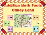 Addition Math Facts Candy Land - Candy Land Board Included