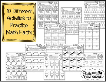 Distance Learning Addition Math Fact Fluency Games