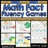 Addition Math Fact Fluency Games