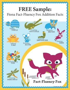 Addition Math Facts FREE SAMPLE {Fiona Fact-Fluency Fox}