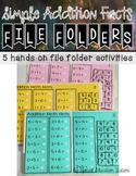 Addition Math Facts File Folders