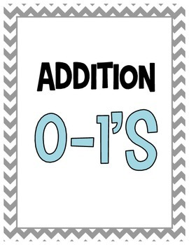 Addition Math Facts Flashcard Pack