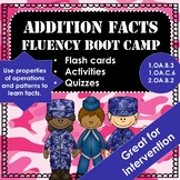 Addition Math Facts Fluency Boot Camp Activities and Assessments