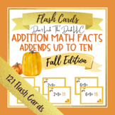 Addition Math Facts Fluency Flashcards for Google Slides™   Fall Edition