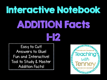 Addition Math Facts Interactive Notebook