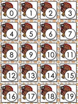 Addition Math Facts Matching Game - Turkey - Thanksgiving or Christmas