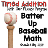 "Addition Math Facts Timed Tests-""Batter Up Baseball"""