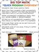 """Addition Math Facts Timed Tests-""""Big Top Math"""""""