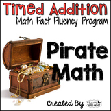 "Addition Math Facts Timed Tests-""Pirate Math"""