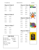 Addition Math Facts up to Ten