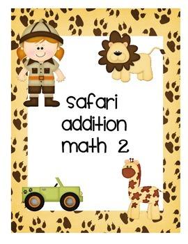 Addition Math Game- Safari Style